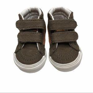 Vans infant size 2 brown high top sneakers